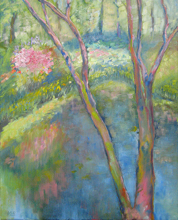 Brookside Pond oil on canvas 16 x 20 Sold
