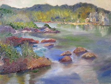 copyright Marty Barrick oil on canvas 18 x 24 $275