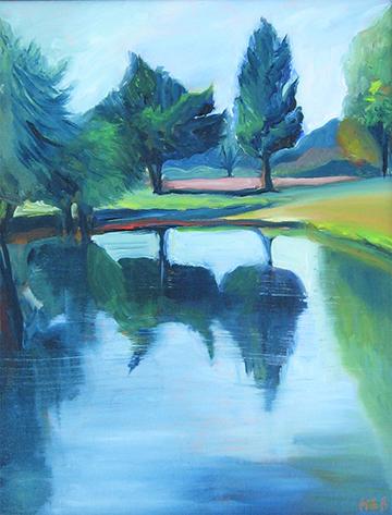 copyright Marty Barrick oil on canvas 11 x 14 $225