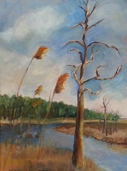 Copyright Marty Barrick Oil on canvas 12 x 16 Sold