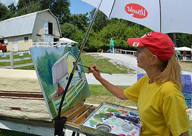 Painting at Star Gazing Farm. Photo by John Zawitoski