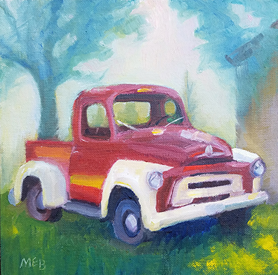 Copyright 2017 Marty Barrick 8 x 8 oil on linen board $175